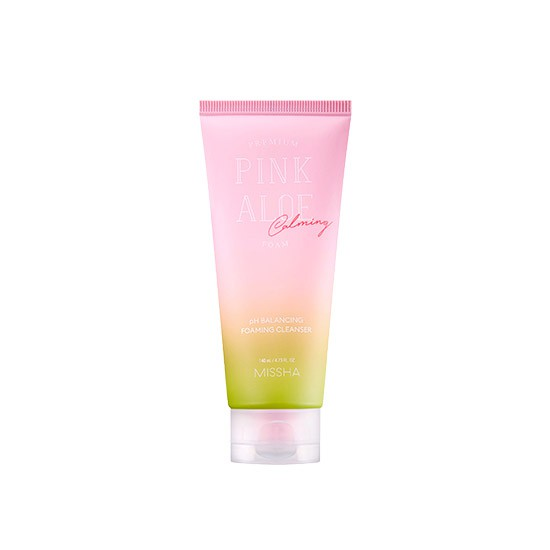 Missha Premium Pink Aloe Ph Balancing Foaming Cleanser